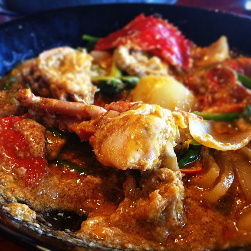 [Fried #crab w/ curry powder] ปูผัดผงกะหรี่ ^___^ #food #iphoneography