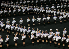Arirang Mass Game In May Day Stadium, Pyongyang, North Korea (Eric Lafforgue) Tags: show people color colour sexy horizontal night asian creativity outdoors photography togetherness clothing women war asia nightshot drum outdoor stadium propaganda flag politics capital performance celebration event repetition sailor mass mayday awe performer stade northkorea traditionalculture skill axisofevil pyongyang dictatorship occupation dprk stalinist traditionalclothing arirang capitalcities choregraphy traveldestinations colorimage teamevent traditionalfestival northkorean fulllenght highangleview traveldestination stagecostume democraticpeoplesrepublicofkorea artscultureandentertainment img4509 onlywomen massgames celebrationevent peopleinarow maydaystadium dpkr performingartsevent massgame rungrado massmouvement largegoupofpeople