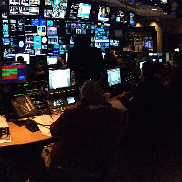 Control room. Inside @todayshow #SteveInToday