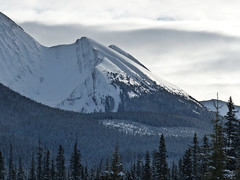 Mountain light (annkelliott) Tags: trees winter light snow canada mountains nature forest landscape kananaskis scenery shadows seasons view alberta peaks breathtaking snowcovered slopes kcountry beautyinnature