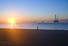 4-1-2012 11 (poseidon_simons) Tags: sea sky sun beach sunrise platform cyprus limassol