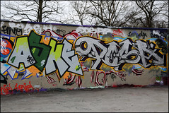Ashe / Dosa (Alex Ellison) Tags: urban wall graffiti alexandrapalace halloffame hof dosa ashe allypally northlondon