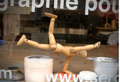 Posing dummy near Montmartre (Randy Durrum) Tags: paris france photoshop europe touch posing dummy 2012 s95 dailyfrenchpod durrum leuropepittoresque