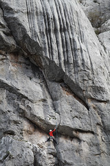 free climbing (cyberjani) Tags: mountain canyon climbing dalmatia paklenica velebit blinkagain