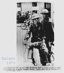 Vietnam War - 1975 Soldier Ride Bike Saigon Fun Relax - Press Photo