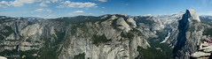 Glacier Point Panorama (OmegaMoth) Tags: life california park blue trees sky panorama mountains green nature beautiful rock clouds landscape nationalpark amazing nikon earth awesome cliffs september adventure journey yosemite land yosemitenationalpark alive geology dslr glacierpoint 2012 usnationalpark d7000 nikond7000 sugarcrashphotography