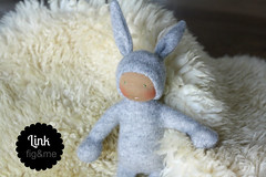 Mr Link (Fig & Me) Tags: rabbit bunny easter dolls natural handmade babydoll cashmere boneca mueca poupe lalka clothdoll popje stoffpuppe waldorfinspired figandme