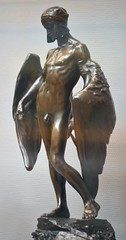 Alfred Gilbert (1854-1934) - Icarus (1882-4), front left, Tate Britain, Dec 2012 (ketrin1407) Tags: statue bronze naked nude erotic victorian icarus mythology tatebritain statuette sensuous alfredgilbert