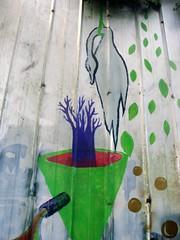 la crisis / la màquina (Felipe Smides) Tags: mural pintura valdivia rìo smides felipesmides intervenciòn