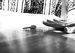 Out of Reach (CoolMcFlash) Tags: blackandwhite bw white black canon keys photography eos key fotografie hand finger schlssel ground sw tamron schwarz boden outofreach weis 2470 flickrfriday a007 60d