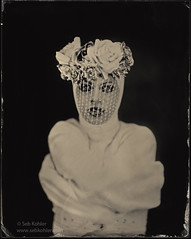Dita Pumpkins...medicalized (Seb Kohler) Tags: portrait studio 8x10 ambrotype wetplate shelter altprocess collodion deardorff collodionhumide sebk sebkohler wwwsebkohlercom wwwshelterstudioorg