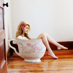 Little Tea Cup (Bethany LeAnne) Tags: cute cup girl rose vintage legs tea fineart conceptual lissyelle joelrobison