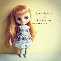 Middie dress for Blythecon Barcelona 2013 #blytheconbarcelona2013 #blythe #blythedoll #middieblythe #middie #blythedress