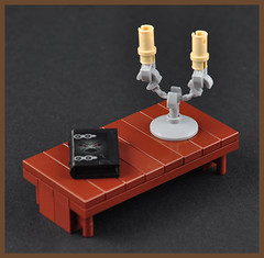 The Candlestick (H. P. Lovecrafts Study) (Xenomurphy) Tags: summer lego gothic providence study cthulhu lovecraft horror artifact author hplovecraft candlestick necronomicon moc oldones