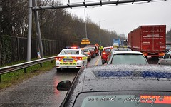 The M11 Motorway on Friday 22/03 (Bray, Ireland). Standstill ! (Mac D-ski - Photography) Tags: garda traffic flood police toyota law bray m11 roadsafety m50 bumpertobumper copcar motroway m11motorwaybrayfriday2203