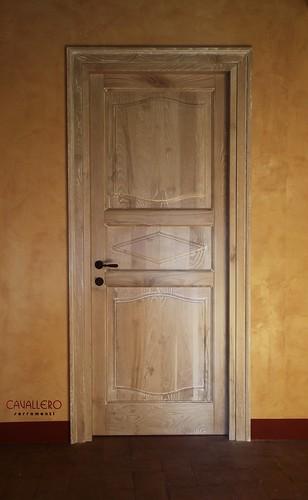 Porta interna Linea Epoca in Castagno decapato bianco