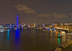 River Thames, Embankment (frederic jon) Tags: nightphotography london westminster riverthames embankment waterloobridge