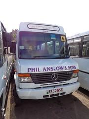 Phil Anslow Coaches SA52 NSE 'Nessie' (welsh bus 16) Tags: philanslowcoaches volvo mercedesbenz sa52nse nessie varteghill gwynwilliams 170 julie