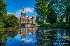 Hannover Rathaus - DSC_6813 (nickybay) Tags: germany deutschland travel hannover rathaus pond reflection architecture