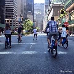 Park Ave (cmputrbluu) Tags: nyc newyorkcity instagramapp instagram iphoneography iphone iphone4s parkavenue cycling bikeriding bikeride summerstreets