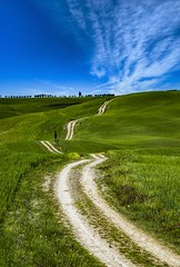 I want to ride my bicycle (ONINOT) Tags: valdorcia tuscany toscana allaperto paesaggio campo erba pianta calma collina distesa erbosa diamondclassphotographer