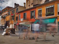 People in motion (neya25) Tags: motion olympusomdem10 mzuiko 918mm longexposure graufilter ndfilter venedig venice venezia italy italien italia people