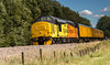 Colas Railfreight Class 37/4 no 37421 at Boughton Junction on the Network Rail Test Track with a Derby to Derby test train on 08-09-2016 (kevaruka) Tags: boughton edwinstowe ldecrailway nottinghamshire ollerton networkrail testtrack testtrain 37421 colasrailfreight yellow orange black countryside england eastmidlands colour colours summer september 2016 sun sunshine sunnyday sunny flickr frontpage ilobsterit class37 growler syphon canon canoneos5dmk3 canon5dmk3 canonef100400f4556l telephoto telephototrains 5d3 5diii 5d 5dmk3
