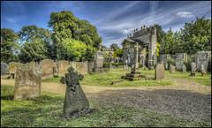 Castle Ashby Graveyard (Darwinsgift) Tags: castle ashby northamptonshire graveyard churchyard hdr tombs graves angels voigtlander 20mm color skopar f35 slii photomatix photoshop