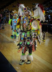 two boys copy (queenbeaphoto@att.net) Tags: bymelissafrybeasley people twoboysdancing regalia colorful iicotpowwowofchampions 2016 ndn nativeamerican nativeyouth beadwork feathers tradition culture familyvalues
