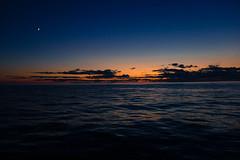 (cara zimmerman) Tags: michigan lakemichigan lake manistee sunset dusk afterglow moon beach