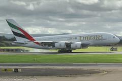 A6-EUA - 2015 build Airbus A380-861, touching down on Runway 23R at Manchester (egcc) Tags: 211 a380 a380861 a388 a6eua airbus egcc ek emirates lightroom man manchester ringway superjumbo uae