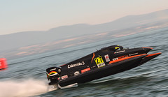 Ready for take off ! (NaPCo74) Tags: f1 h2o power boat bateau lake lac leman lman evian les bains vian genve lausanne powerboat haute savoie ahmed al hameli emirates racing team take off water
