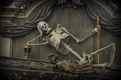Skull1 (Steve.frog) Tags: church rostock kirche hanse hafen germany sklett skull bone grave grab sarg