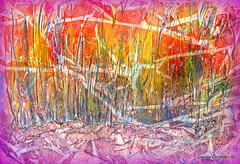 ''DEEP FOREST'' ABSTRACT PAINTING (Louise001) Tags: mixedmedia texturing experimental abstract painting art