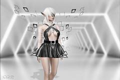 ca|187 ( ) Tags: whitewidow shi zibska tattoo fashion photography art pixel girl woman soul sl secondlife black white