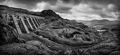 The Stwlan Dam (jmx77) Tags: dam road mountains wales moelwyn tanygrisiau stwlan llyn hydroelectric power