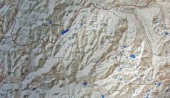 Map of JMT from Donohue Pass to Yosemite Valley (Mike Dole) Tags: johnmuirtrail yosemitenationalpark california sierranevada