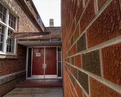 Smokers Doors (Jerry Bowley) Tags: highschool school wchs wessterncanadahighschool doors