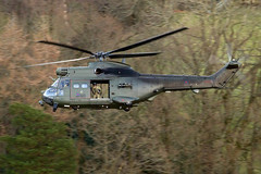 RAF Puma, Glenridding, 2016 (TheSpur8) Tags: puma oxfordcrag aircraft date lowlevel landlocked lakedistrict helicopter military uk places 2016 anationality skarbinski transport