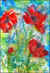 ABSTRACT POPPY FIELD PAINTING (Louise001) Tags: mixedmedia abstract flowers poppies art painting