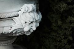 cheeky devil (PenelopeEfstop) Tags: urn marble gargoyle face sculpture garden parkwoodestate architecture historical
