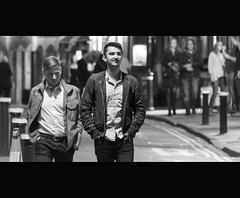 Prowlers (39of365) (Reckless Times) Tags: mono cinematic film movir movie edit prowlers night out lads black white street photography grain nikon d750 man outside oxford little clarendon road 365 project