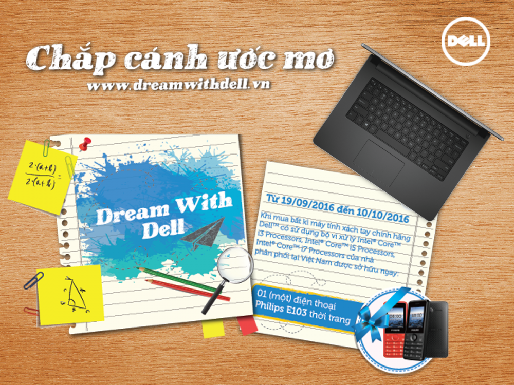 Khuyến mãi lớn - Cùng Dell chắp cánh ước mơ