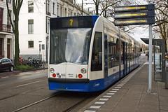 Amsterdam 2080 (Sam Pedley) Tags: tram amsterdam amsterdamtram siemens combino siemenscombino 2080 gvb weesperplein line7