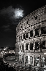 Rome By Night (Willers1404) Tags: rome night dark manfrotto desaturated italy tripod long exposure tourist colosseum trevi fountain pantheon ancient architecture impressive buildings moon