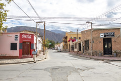 Cafayate (morten f) Tags: cafayate argentina street photography sky summer city houses outdoor architecture building people coca cola road 2016