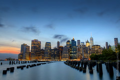 New York City Skyline after sunset (JetImagesOnline) Tags: new york city brooklyn lower manhattan long exposure dumbo sunset hdr 3xp
