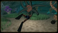 Diving (Unmarriedswede) Tags: second life avatar diving dive snorkle kraven fish water deep sea