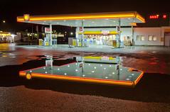 Gas station (Anders_3) Tags: urban reflection cars norway night stavanger norge diesel shell gas gasstation carwash neonlights petrol rogaland petrolstation forus bensinstasjon skeidar nikond700 andersharbo forusbeen