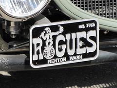 Club Plate (bballchico) Tags: carclub plate plaque cc dodge pickup truck hotrod kustom v8 roguescc 206 washingtonstate